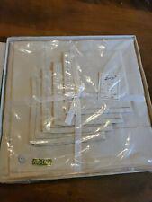 Linbro Pure Linen Table Cloth Napkin Tea Set Vintage New In Box Japan Cream