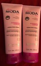 (2) Alta Moda ALFAPARF Crema Para Peinar/Comb Cream Treatment Postaliciado 8.4oz
