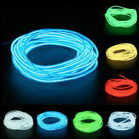 1/3/5M USB Operated Luminescent Neon LED Lights Glow EL Wire String Strip Rope