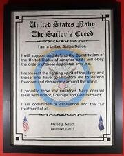 Mc-Nice: Navy Sailor's Creed Framed Personalized