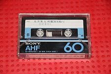USED TAPES!!     SONY  AHF  60   VS. II  BLANK CASSETTE TAPE (1) (USED)