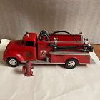 TONKA 1957 TONKA SUBURBAN PUMPER FIRE TRUCK W/HYDRANT