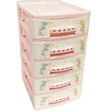 Mini Desktop Drawer Storage Small Organiser Box For Rooms & Office Pink