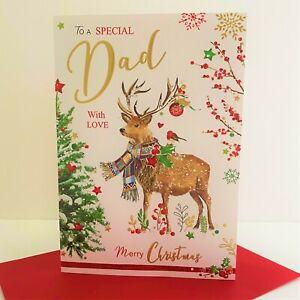 Jonny Javelin Special Dad Merry Christmas Card Reindeer Christmas Tree/XSR05