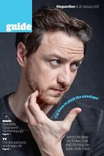 James McAvoy RARE The Guardian Guide UK Magazine January 2017 X-Men Interview