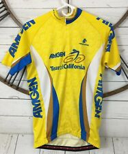 Hincapie Cycling Jersey AmGen Tour of California Yellow Full Zip Size Medium