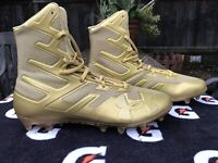 NEW Under Armour UA Highlight MC All Gold Football Cleats Mens Size 13 NWOT