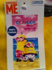 "Despicable Me Minion Beach Towel ""Cooler than you"" 28in by 58in"