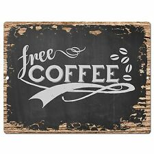 PP0399 Rust Free COFFEE Sign Store Shop Cafeteria Restaurant Home Kitchen Decor