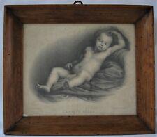 """Litografia Lithography Aubry-Lecomte """"L'Enfant Jésus"""" originale, 1825"""