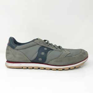 Saucony Mens Jazz Low Pro 2866-133 Gray Blue Running Shoes Lace Up Size 10.5