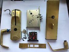 Used Kaba Ilco 710 Hotel Lock Satin Brass Gold Color Vingcard Onity Saflok