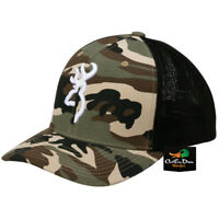NEW BROWNING COLSTRIP MESH BACK FLEX FIT BALL CAP HAT BUCKMARK LOGO CAMO