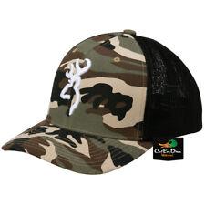 NEW BROWNING COLSTRIP MESH BACK FLEX FIT BALL CAP HAT BUCKMARK LOGO CAMO