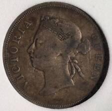 Straits Victoria 50 cents 1889 NNC F15 Key date