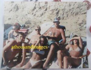 Photo Sexy Woman Shirtless Men Bikini Swimsuits Shorts Beach Party Tanning CJ10