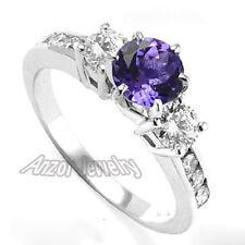 Platinum 950 Genuine Tanzanite & Diamond Engagement Ring Sizes 4 to 9.5 #R1531