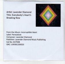 (DJ973) Lavender Diamond, Everybody's Heart's Breaking Now - 2012 DJ CD
