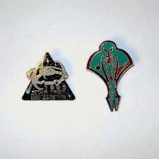 Star Trek: Deep Space Nine Station 1993 Season and Cardassian Logo Cloisonne Pin