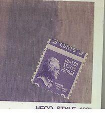 Error Stamp US 3 Cent Purple Jefferson Mis-Cut Horizontal