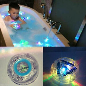 Baby Kids Bathing Shower LED Light Up Tub Fun Time Toys  Glowing Ball Waterproof