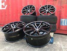 """T6 Genuine SPYDER BLK PEARL Sportline 18"""" alloy wheels 5x120 + TYRES VW T5, T6"""