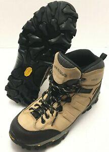 Vasque Hiking Boots Womens Size US 8.5, EUR 39 Vibram Ankle Beige Black Leather