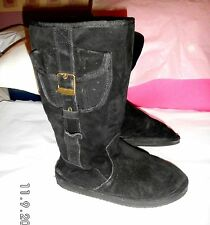Unbranded Wedge Suede Pull On Boots for Women