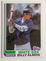 1982 Topps Bill Almon Auto Autograph Card White Sox Padres Signed #521