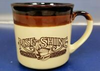 Vintage Hardee's Rise and Shine Homemade Biscuits Ceramic Coffee Mug Cup 1986