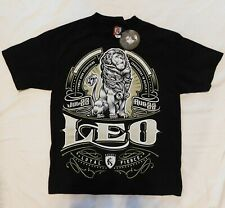 NWT Ogabel Men's Medium Black Leo Zodiac Sign Short Sleeve T-Shirt - Horoscope