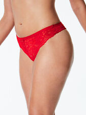 M & S size 6 floral lace thong knickers NO VPL Red