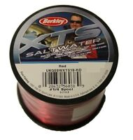 Bulk Spool of Berkley XTS Sea Fishing Line Red  for Beach surf or boat Reel
