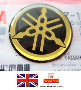 ORIGINAL YAMAHA 25MM GEL BLACK & GOLD DECAL STICKER BADGE