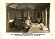 WWI Général Philippe Pétain Wagon-Salon Bataille de la Meuse   ILLUSTRATION