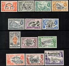 Nigeria 1953 QEII Pictorial Definitives Set  SG.69/80  Mint (Hinged)