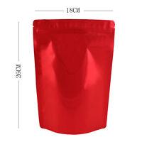 14CMx20CM bolsas de Sello de agarre fuerte Ziplock Stand Up Bolsa Transparente//Plata