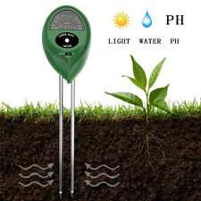 3 in 1 Soil PH Tester Moisture Sunlight Light Test Meter for Garden Plant Lawns