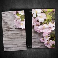 2 x Tempered Glass Chopping Board Cooker Hob Cover Protection Flowers 87674671n