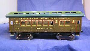 "IVES Prewar ONE Gauge 72 ""High Side"" Washington Passenger Car! CT"