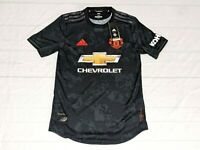 Adidas Manchester United Jersey Black Red ED7391 Men XS Authentic Chevy Man UTD