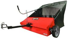 Lawn Sweeper Tow-Behind Steel Frame Hitch 44 in. Flow Thru Bag Garden Tool