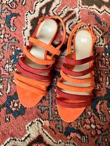 CAMPER 'Twins' colourful slingback suede sandals sz 39/40 (?) | ex cond