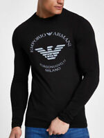 Long Sleeve Slim Fit Emporio Armani BORGONUOVO Fashion Stretch Cotton T-shirt