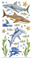 Shark Ocean Sea Life Stickers Papercraft Planner Party Supply Teacher Cards