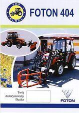 Foton Lovol 404 2014 catalogue brochure tracteur Traktor tractor rare