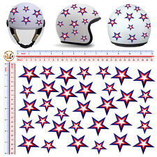 Adesivi casco stelle america sticker stars U.S.A. helmet tuning moto 32 pz.