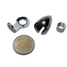 Mini Highsider Aluminium Gehäuse chrom für Mini Highsider LED Rücklicht