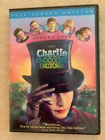 CHARLIE AND THE CHOCOLATE FACTORY CD FULL SCREEN EDITION JOHNNY DEPP