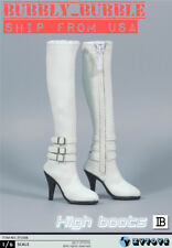 "1/6 Female Over The Knee High Heel Boots B For 12"" PHICEN Figure SHIP FROM USA"